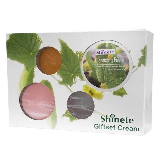 ครีมหน้าขาว-Shinete' ครีม ชิเนเต้ หน้าขาวใส เซ็ตผลิตภัณฑ์ดูแลผิวหน้า 4 ชิ้น 1 เซ็ต (1 กล่อง)