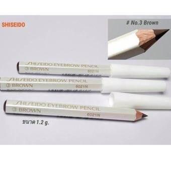 Shiseido Eyebrow Pencil No.ดินสอเขียนคิ้วคุณภาพดี เขียนง่าย ดูเป็นธรรมชาติ #3 Brown (3 แท่ง)-