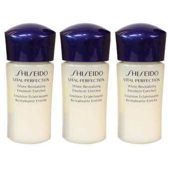 Shiseido Vital-Perfection White Revitalizing Emulsion Enriched 15ml. (3ชิ้น)