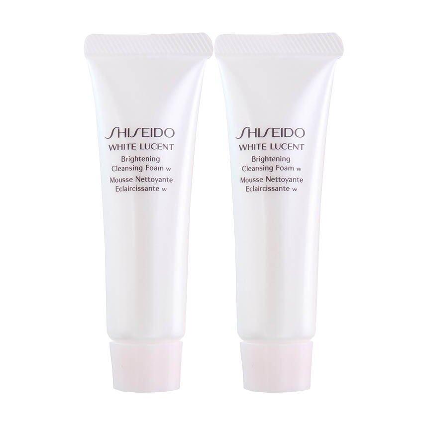 Shiseido White Lucent Brightening Cleansing Foam W โฟมล้างหน้าชิเซโด้ ทำความสะอาดผิวหน้าเนื้อเนียนนุ่ม 30ml ( 2 หลอด)