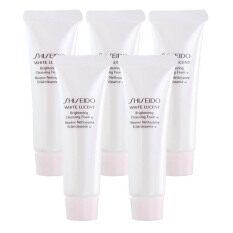 Shiseido White Lucent Brightening Cleansing Foam W โฟมล้างหน้าชิเซโด้ ทำความสะอาดผิวหน้าเนื้อเนียนนุ่ม 30Ml 5 หลอด ถูก