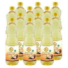 Siam Plus Coconut Oil น้ำมันมะพร้าวสำหรับปรุงอาหาร ขนาด 1 ลิตร จำนวน 12 ขวด เป็นต้นฉบับ