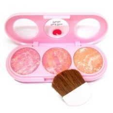 ราคา Sivanna Colors บลัชออนคุกกี้ 3 สี พร้อมกระจก แปรง Peach Beam Blusher No 2 Sivanna เป็นต้นฉบับ