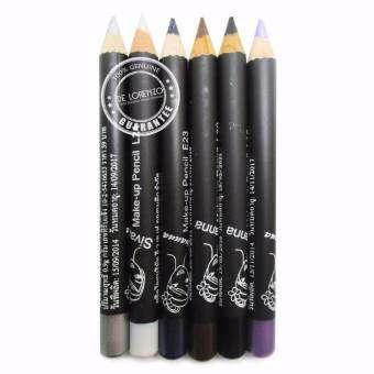 Sivanna Colors ดินสอเขียนขอบตา ซีเวียน่า ดินสอเขียนตา อายไลเนอร์ 6 เฉดสี Make-Up Pencil LP02 (6 แท่ง-