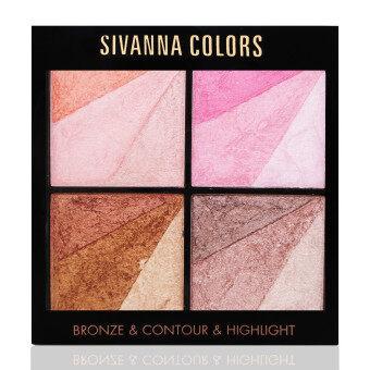 Sivanna Colors Bronze Contour Highlight ซิวันนา บรอนเซอร์ ไฮไลท์ คอนทัวร์ 362 สี 01