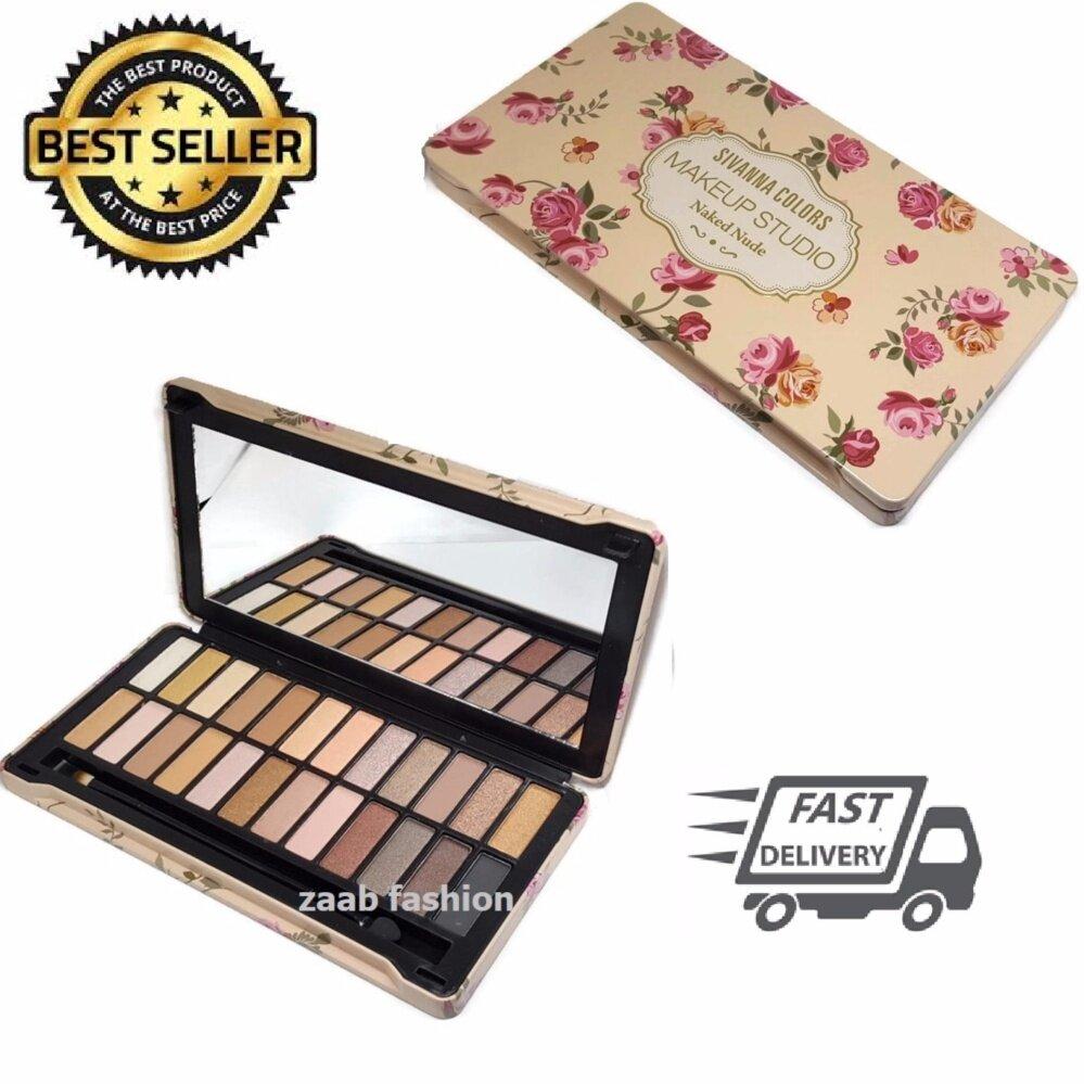 SIVANNA COLORS Eye shadow (Zaab Fashion) พาเลท อายแชโดว์ 24 สี ติดทน กันเหงื่อ กล่องเหล็ก สวยหรู รีวิวแน่น