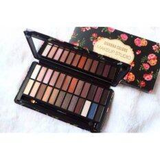 ทบทวน ที่สุด Sivanna Colors Makeup Studio Hf990 พาเลทอายแชโดว์ 24 สี 01 Dark Smoky