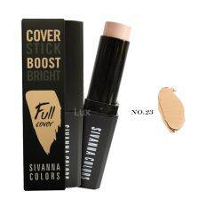 ราคา ราคาถูกที่สุด Sivanna Cover Stick Boost Bright Full Cover ซีเวียน่าคอนซีลเลอร์ ปกปิดเรียบเนียน ทุกริ้วรอยและจุดด่างดำ เบอร์ 23 1 กล่อง