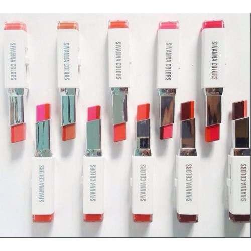 Sivanna Double Color Lipstick #204 ลิปสติก 2 โทน เทรนด์ใหม่จากเกาหลี