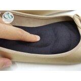 ซื้อ แผ่นรองเท้าสุขภาพ ลดอาการปวดเมื่อยเท้า ปวดส้นเท้า ปวดฝ่าเท้า Size M สีดำ