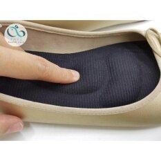 ขาย ซื้อ ออนไลน์ แผ่นรองเท้าสุขภาพ ลดอาการปวดเมื่อยเท้า ปวดส้นเท้า ปวดฝ่าเท้า Size M สีดำ