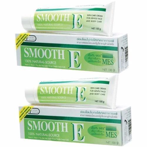 ใช้แล้วดีจริง ๆ ค่ะ SMOOTH E Cream 100 กรัม (x2 หลอด) ขายดีที่สุด