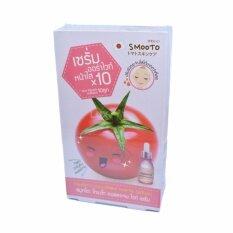 ราคา Smooto Tomato Collagen White Serum สมูทโตะ โทเมโท คอลลาเจน ไวท์เซรั่ม สูตรออร่าไวท์ หน้าใส บรรจุกล่องละ 6 ซอง 1 กล่อง ใหม่