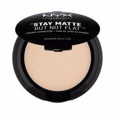 นิกซ์ โปรเฟสชั่นแนล เมคอัพ สเตย์ แมท บัท น็อท แฟลท พาวเดอร์ ฟาวเดชั่น Smp02 นู้ด แป้งฝุ่น Nyx Professional Makeup Stay Matte But Not Flat Powder Foundation Smp02 N*d* Finishing Powder ใน กรุงเทพมหานคร