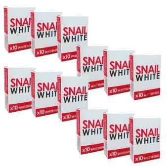 รีวิว Snail White Soap x10 Whitening สบู่หอยทาก ฟอกผิว 70g. (แพ็ค 12 ก้อน)