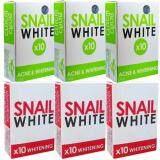 ขาย Snail White X10 Acne สีเขียว3ก้อน Whitening Soap สีชมพู3ก้อน สบู่กลูต้าหอยทาก สเนลไวท์ ถูก