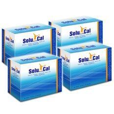 ราคา Solucal โซลูแคล 30 ซอง แคลเซียม คอลลาเจน วิตามิน ดี3 X 4 Box