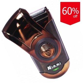 Startup Nikai เครื่องโกนหนวด Rechargeable Shaver Nk-7035 (Brown)