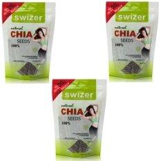 Swizer Natural Organic Chia Seeds 100 220G เนเชอรัล ออแกนิค เจียซีด เชียซีด 3ชิ้น ใหม่ล่าสุด