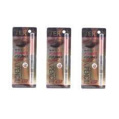 ราคา Ter ดินสอเขียนคิ้ว เฑอ ออโต้ ดินสอเขียนคิ้วกันน้ำ Masterpiece 3D Powder Formula Auto Eyebrow Pencil No 03Red Brownสีน้ำตาลแดง แพ็ค3ชิ้น ออนไลน์ Thailand