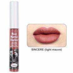 ราคา The Balm Meet Matte Hughes Long Lasting Liquid Lipsti สี Sincere 7 4 Ml The Balm Thailand