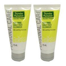 ทบทวน ที่สุด Thursday Plantation Tea Tree Daily Face Cleanser 75Ml 2 หลอด