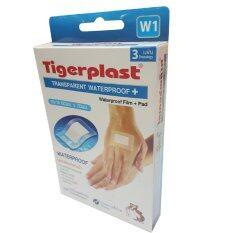ราคา Tigerplast Transparent Waterproof พลาสเตอร์ใสกันน้ำ ขนาด60มม X70มม รุ่นW1 12 กล่อง 1กล่องมี3แผ่น Tigerplast ใหม่