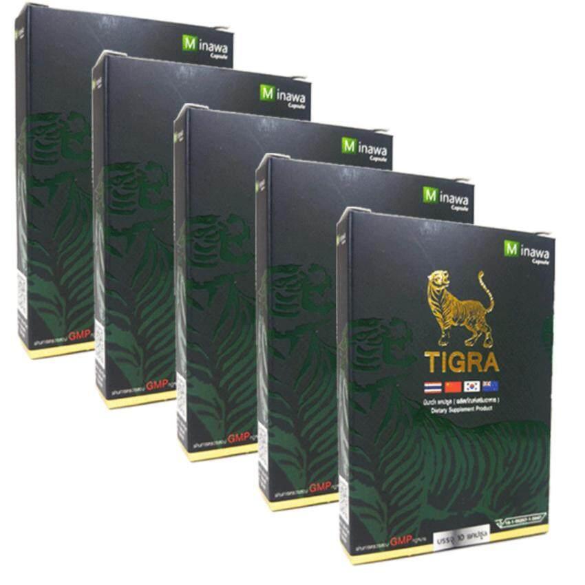 TiGra Minawa ไทกร้า มินาว่า 10 แคปซูล x 5 กล่อง