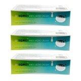 ราคา ราคาถูกที่สุด Tomei Anti Acne Cream โทเมอิ แอนตี้ แอคเน่ ครีม 5 G 3 หลอด