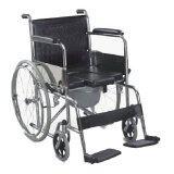 ซื้อ Triple รถเข็นผู้ป่วย นั่งถ่ายได้พับได้ โครงสร้างจากเหล็ก ล้อ 23 นิ้ว สีดำ รุ่น Fs609U Triple