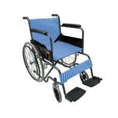ซื้อ Triple รถเข็นผู้ป่วย พับได้ชุบโครเมี่ยม ล้อ 24 นิ้ว ไม่มีเบรคมือ รุ่น Ca907 สีน้ำเงินเส้นตรง ออนไลน์ ถูก