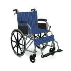 โปรโมชั่น Triple Y รถเข็น ผู้ป่วย อลูมิเนียมอัลลอยด์พับได้ รุ่น Y878 สีน้ำเงิน