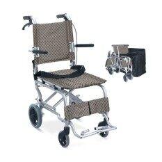 ราคา Triple รถเข็นผู้ป่วย พับได้พร้อมกระเป๋าใส่เดินทาง สีน้ำตาล ครีม รุ่น Y802 ราคาถูกที่สุด