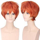 ขาย Unisex Anime Short Straight Full Wigs Orange Red Intl ออนไลน์