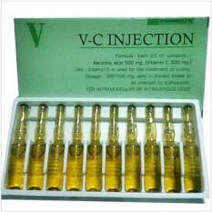 ขาย วิตซีหน้าใส V C Injection กล่องเขียว บำรุงผิว กล่องละ 10 หลอด 1 กล่อง ใน ไทย