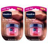 ทบทวน Vaseline Lip Therapy Rosy Lips Lip Balm วาสลีน ลิป เทอราพี 7 G 25 Oz 2กระปุก Vasline