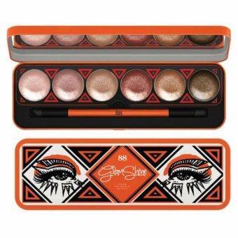 Ver.88 Glam Shine Cream Eyeshadow Palette อายแชโดว์เนื้อครีม จำนวน 1 ตลับ