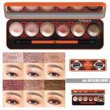 โปรโมชั่น Ver 88 Glam Shine Cream Eyeshadow Palette อายแชโดว์เนื้อครีม ประกายชิมเมอร์ เกลี่ยง่าย เม็ดสีคมชัด ติดแน่นยาวนาน กันน้ำ กันเหงื่อ 6 เฉดสีสวย 1 กล่อง Ver 88 ใหม่ล่าสุด