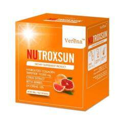ราคา Verena Nutroxsun เวอรีน่า นูทรอกซ์ซัน คอลลาเจนหน้าป้องกันแสงแดด หน้าอ่อนเยาว์ บรรจุ 10 ซอง 1 กล่อง ถูก