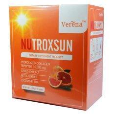 ขาย Verena Nutroxsun นูทรอกซ์ซัน คอลลาเจน ลดฝ้า ป้องกันแสงแดด หน้าอ่อนเยาว์ บรรจุ 10 ซอง 1 กล่อง ไทย ถูก