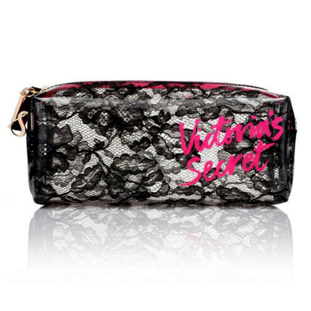 Victoria's Secret Black Lace Makeup Bag