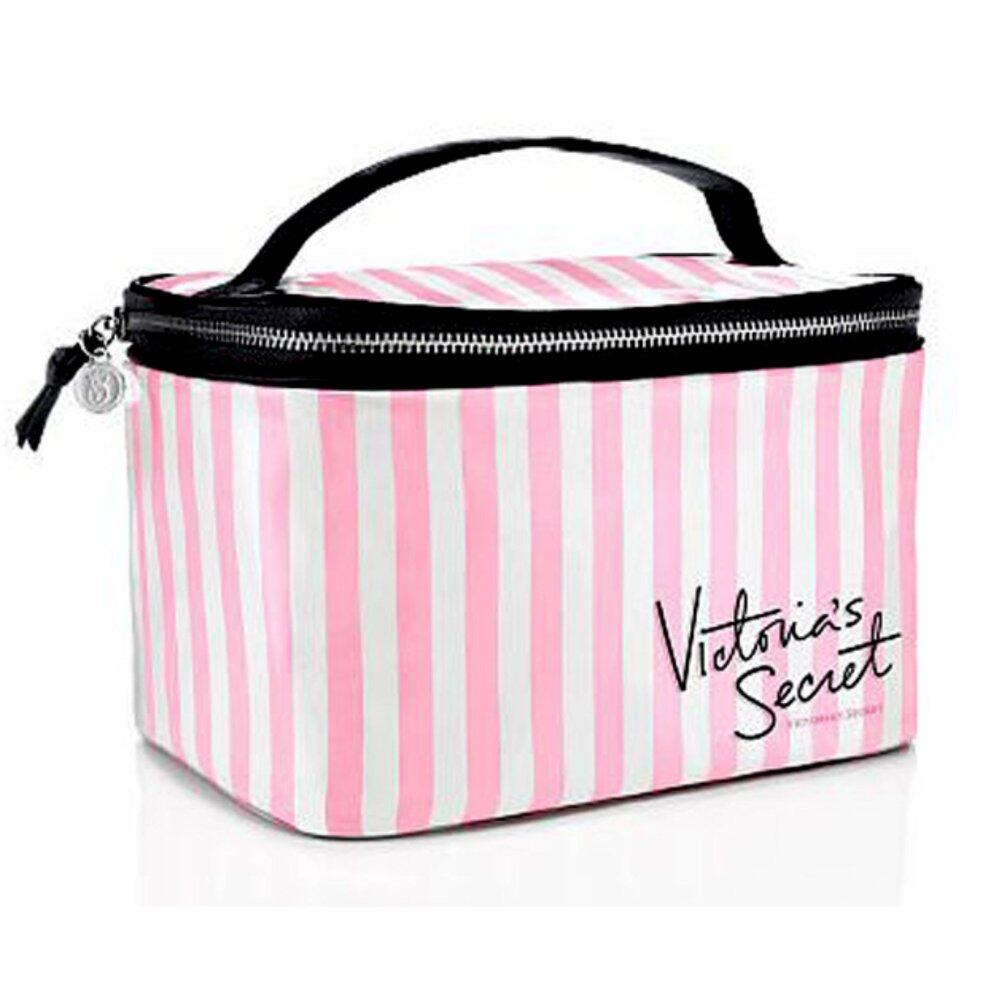 Victoria's Secret Stripe PVC Cosmetic Box