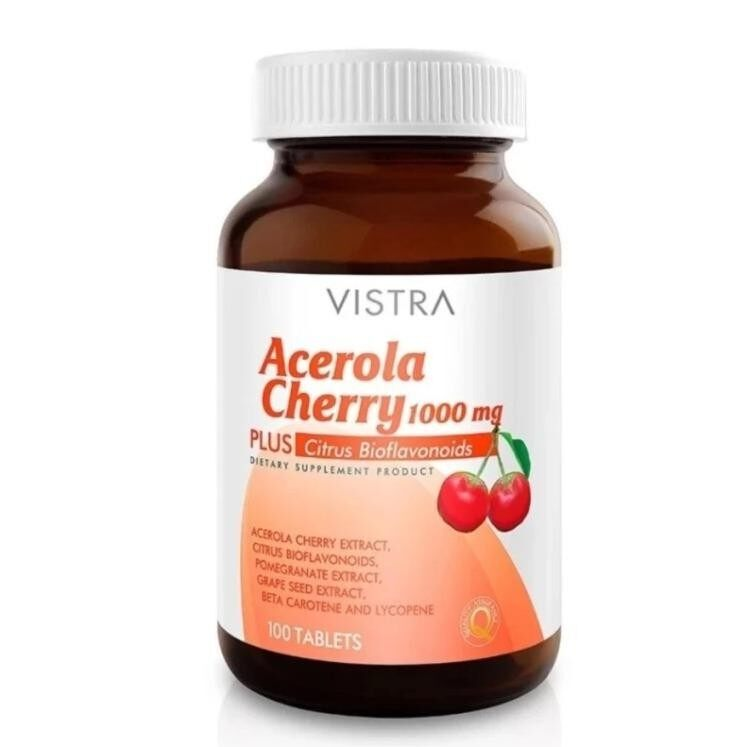 VISTRA Acerola Cherry 1000 mg. 100  เม็ด