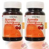 โปรโมชั่น Vistra Acerola Cherry 1000 Mg 45เม็ด 2ขวด วิสทร้า อะเซโรลาเชอร์รี่ 1000 มก Vistra ใหม่ล่าสุด