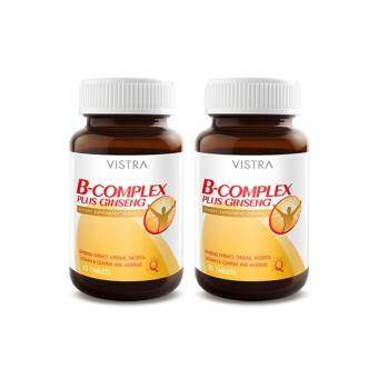 VISTRA B Complex plus Ginseng (30 Tablets) แพ็ค 2 ขวด