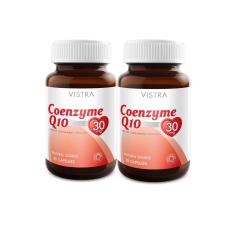 ราคา Vistra Coenzyme Q10 Natural Source 30 Caps 2 Botวิสทร้า โคเอ็นไซต์ คิว10แพ็คคู่ เป็นต้นฉบับ