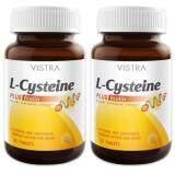 ขาย Vistra L Cysteine Plus Biotin วิสทร้า แอล ซีสเทอีน ผสม ไบโอติน ผลิตภัณฑ์เสริมอาหาร บำรุงเล็บและเส้นผม 30 เม็ด 2 ขวด ออนไลน์ ใน กรุงเทพมหานคร