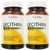 ราคา Vistra Lecithin 1200Mg Plus Vitamin E 90เม็ด 2ขวด วิสทร้า เลซิติน 1200 มิลลิกรัม พลัส วิตามิน อี เป็นต้นฉบับ