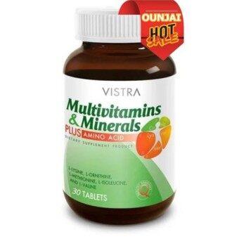 วิตามินรวม และแร่ธาตุ ผสมกรดอะมิโนVistra Multivitamins Plus Amino Acid30 เม็ด