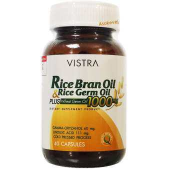 Vistra Rice Bran Oil 1000mg Plus Wheat Germ 40เม็ด-